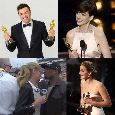 Vuemix shares the latest streaming online videos of the oscars, anne hathaway, Jennifer Lawrence, 50 cent, and more