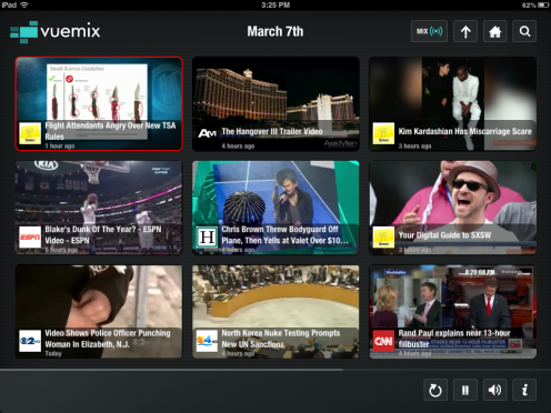 Vuemix shares the latest streaming online videos of Rand Paul, Hangover III, Chris Brown SXSW and more