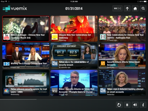Vuemix search and browse videos simultaneously